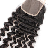 Tissage - Closure Brazilian REMY Hair Natural Deep Wave Free Style