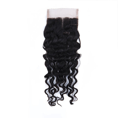 Tissage - Closure Brazilian REMY Hair Natural Kinky Curly Middle Part