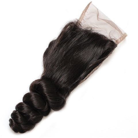 Tissage - Closure Brazilian REMY Hair Natural Loose Wave Free Style