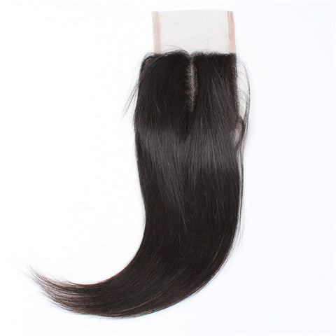 Tissage - Closure Brazilian REMY Hair Natural Straight 1 Part