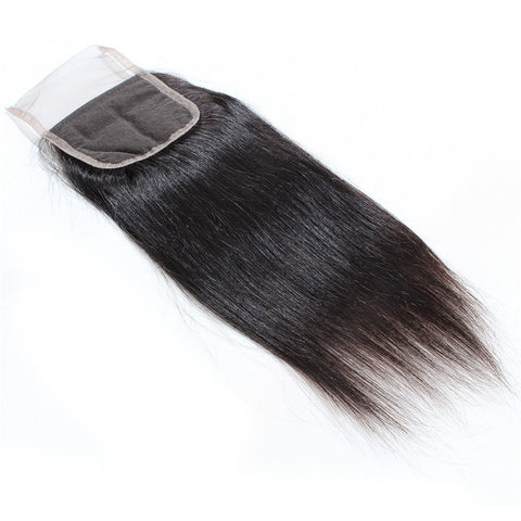 Tissage - Closure Brazilian REMY Hair Natural Straight Free Style