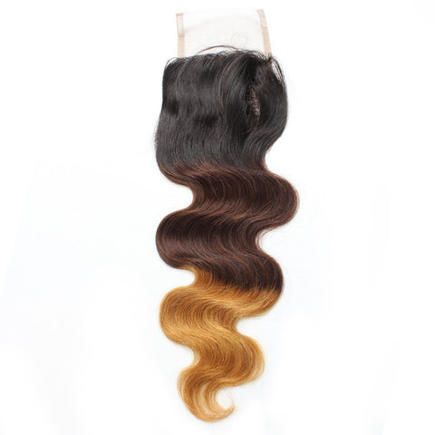 Tissage - Closure Brazilian REMY Hair Natural T3 Body Wave Free Style