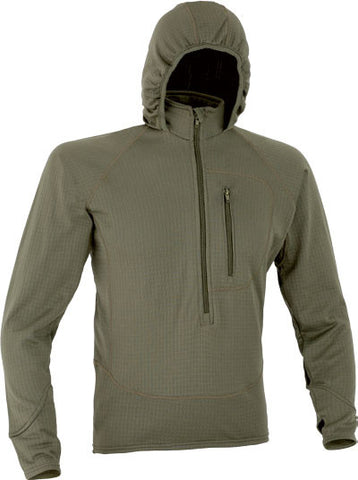 COMBAT FLEECE 3/4 ZIP JACKET WITH HOOD