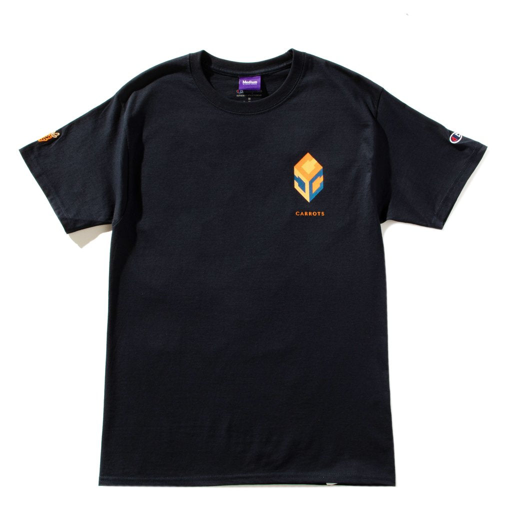 CARROTS GUCCUO WORDMARK T-SHIRT -NAVY
