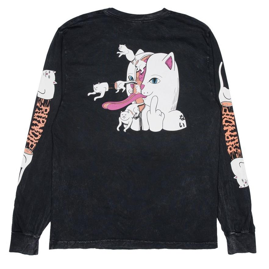 RipNDip ZIPPERFACE L/S -BLACK