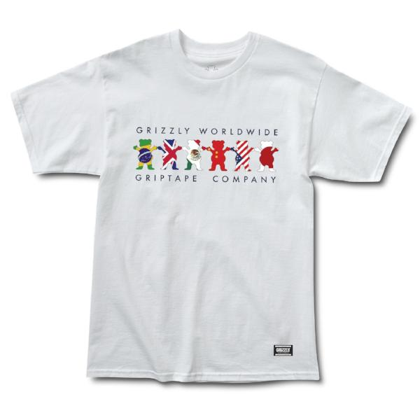GRIZZLY WORLDWIDE TRIBE S/S TEE -WHITE