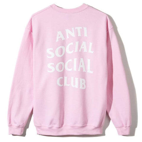 AntiSocialSocialClub KNOW YOU BETTER CREWNECK -PINK