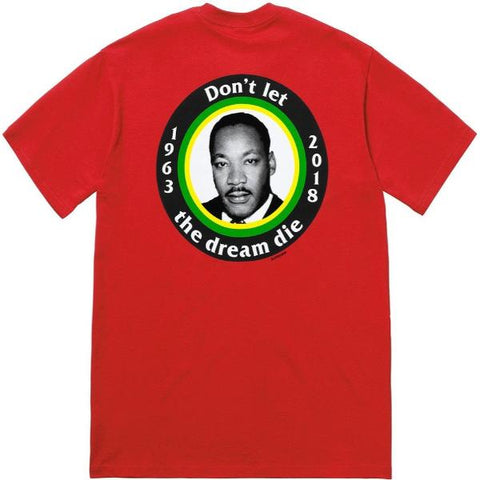 SUPREME MLK DREAM TEE -RED