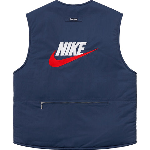 SUPREME NIKE? REVERSIBLE VEST -NAVY