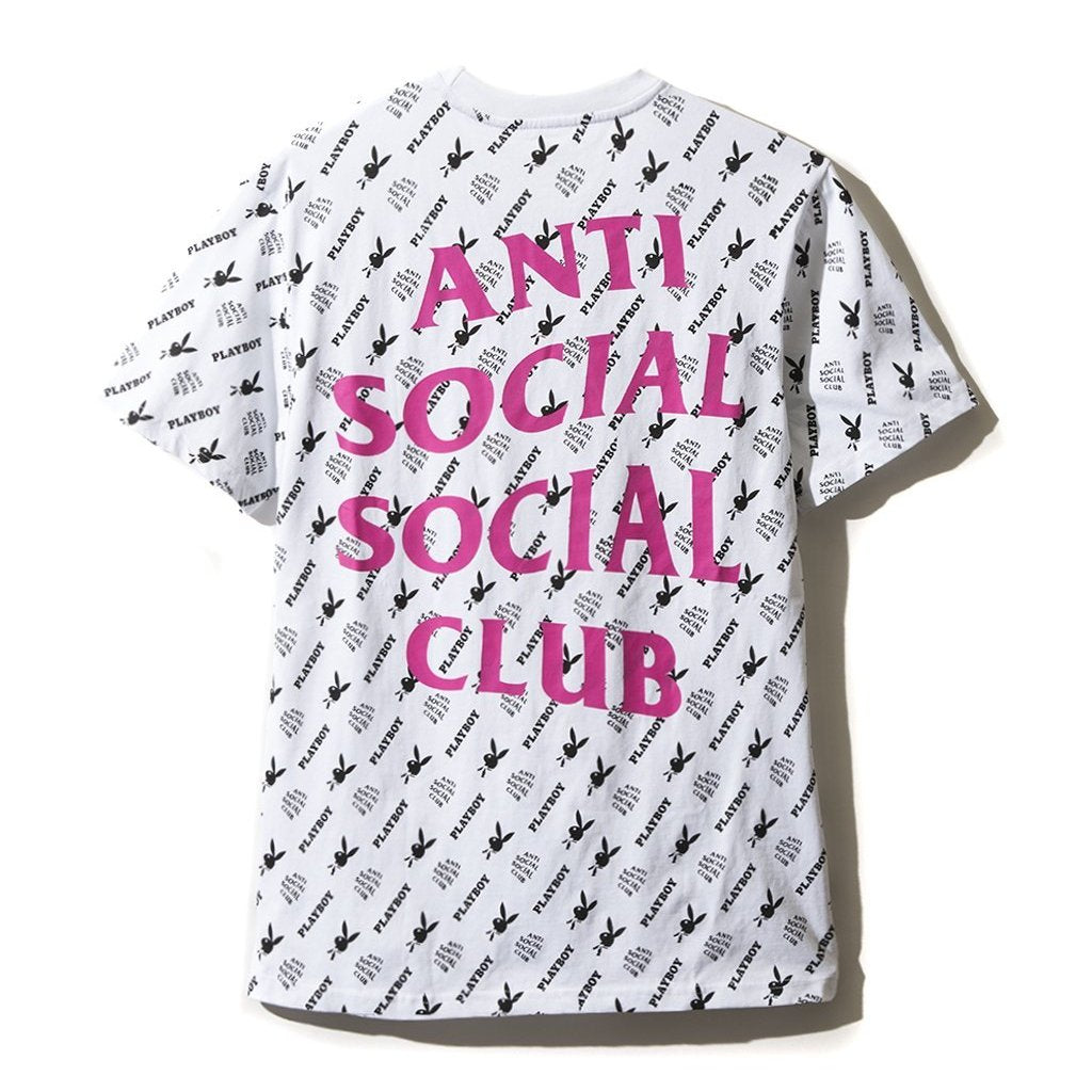 AntiSocialSocialClub ASCxPLAYBOY ALL OVER TE -WHITE
