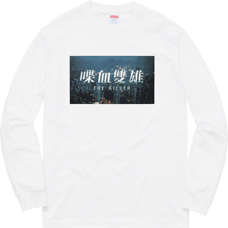 SUPREME THE KILLER L/S TEE -WHITE