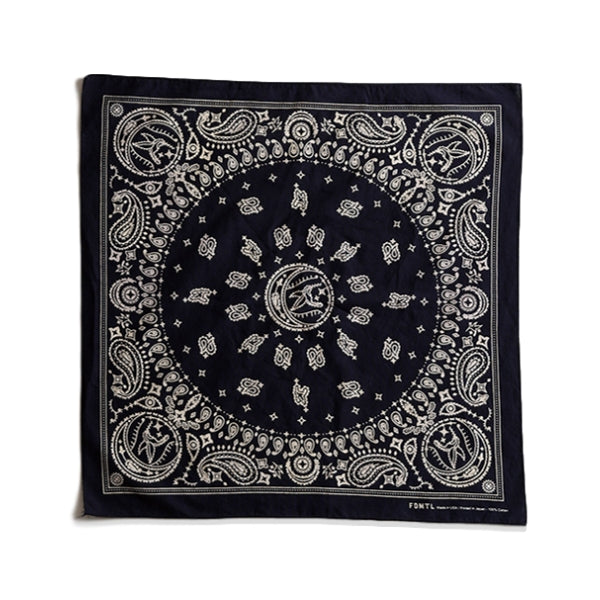 FUNDAMENTAL HUMMINGBIRD BANDANA -NAVY