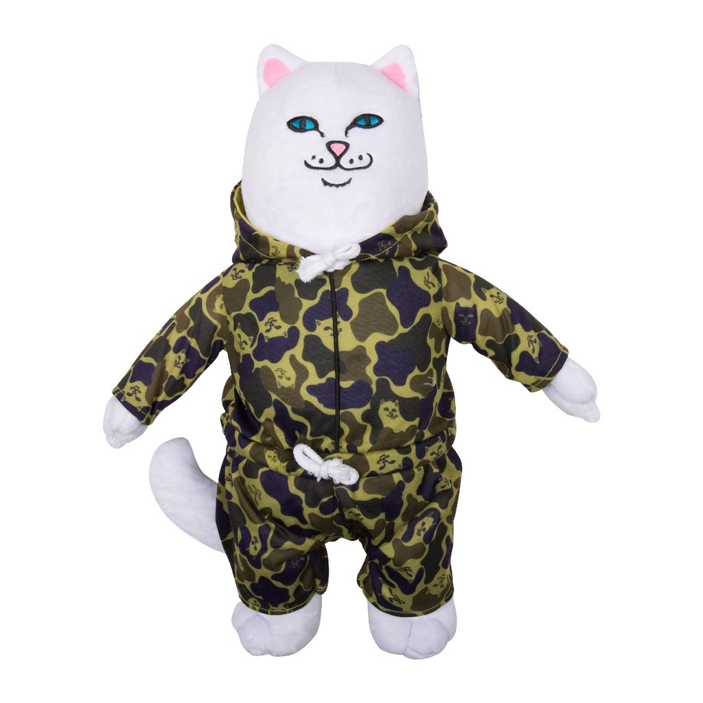 RipNDip NERM CAMO PLUSH DOLL -WHITE