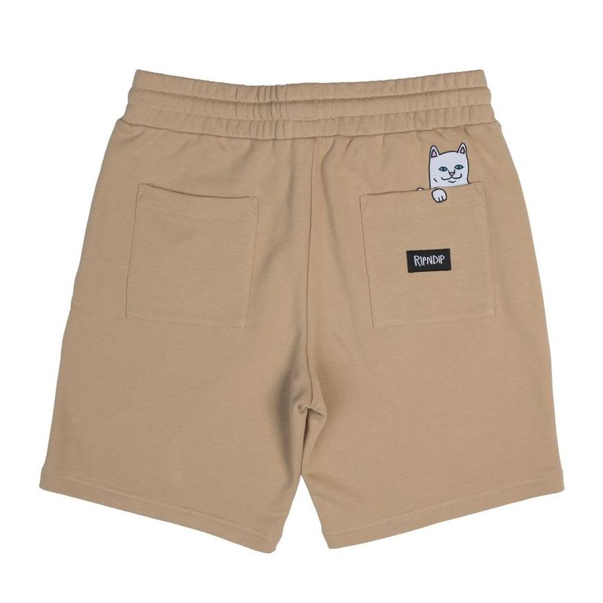 RipNDip PEEKING NERM SWEAT SHORTS -TAN