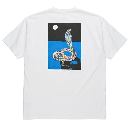 POLAR MIDNIGHT SNAKE TEE -WHITE