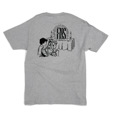 40'S AND SHORTIES PRAYERS TEE -GREY