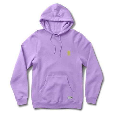 GRIZZLY OG BEAR EMBROIDERED HOODY -PURPLE