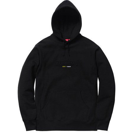 SUPREME EMBOSSED LOGO HOODED SW -BLACK