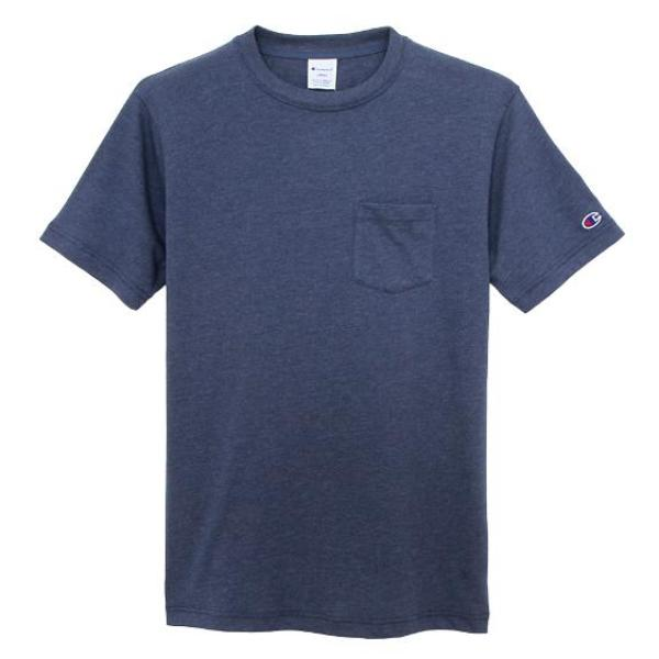 CHAMPION SMALL LOGO PKT TEE -NAVY