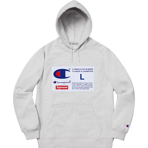 SUPREME CHA LABEL HO SW -GREY