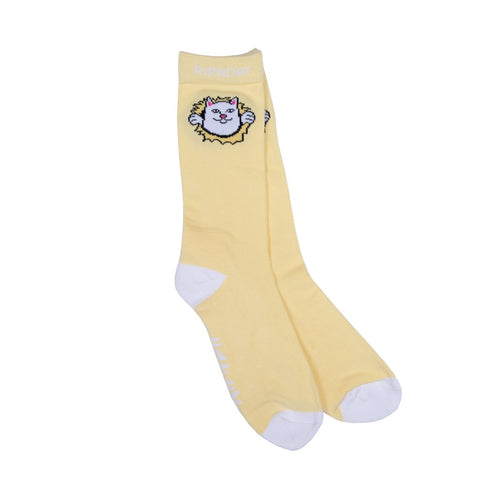 RipNDip NERMAMANIAC SOCKS -YELLOW
