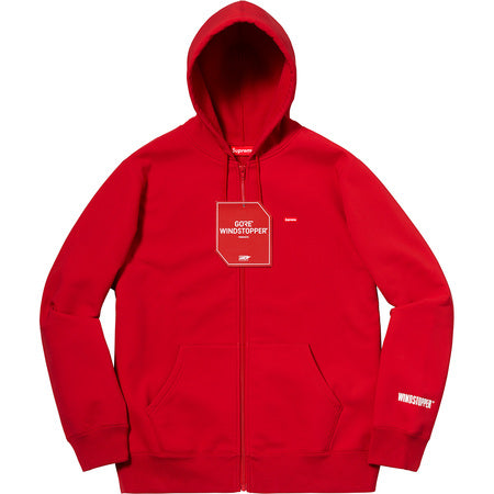 SUPREME WINDSTOPPER ZIP UP HO SW -RED