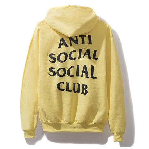 AntiSocialSocialClub YELP YELLOW HOODIE -YELLOW