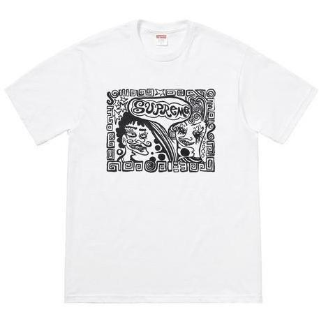 SUPREME FACES TEE -WHITE