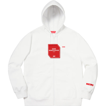SUPREME WINDSTOPPER ZIP UP HO SW -WHITE