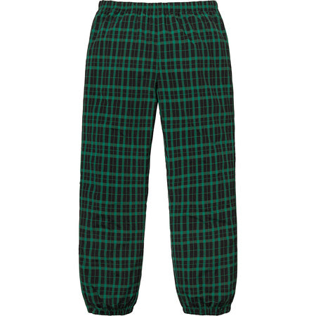 SUPREME NYLON PLAID TRACK PANT -GREEN