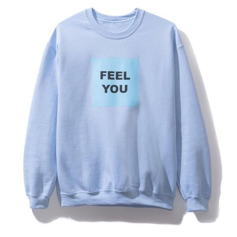 AntiSocialSocialClub FEEL YOU CREWNECK -LIGHT BLUE