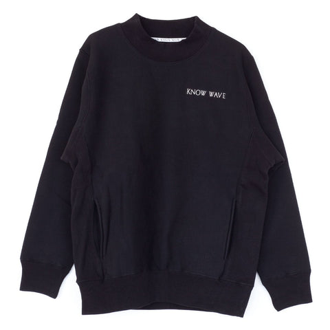 KNOW WAVE MOCKNECK POCKET SW -BLACK