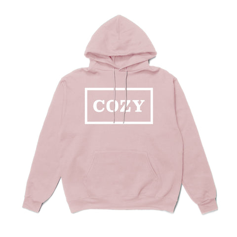 TEAM COZY COZIER BOX HOODIE -PINK