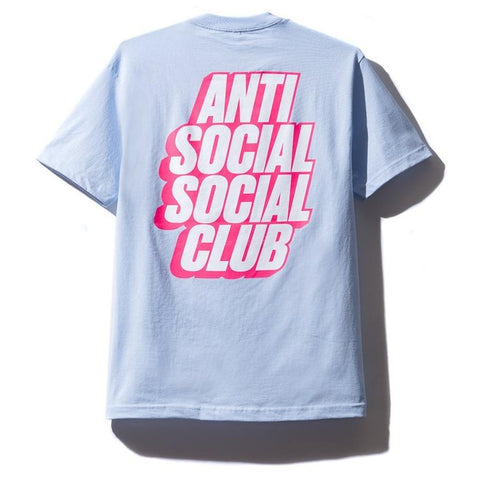 AntiSocialSocialClub BLOCKED SKY BLUE TEE -LIGHT BLUE
