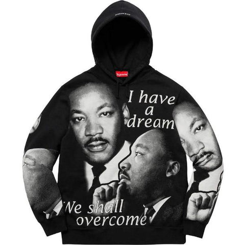 SUPREME MLK HOODED SWEATSHIRT -BLACK