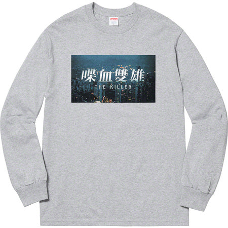 SUPREME THE KILLER L/S TEE -GREY