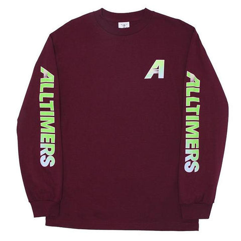ALL TIMER ARTISTS LS TEE -BURGUNDY