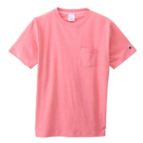 CHAMPION SMALL LOGO PKT TEE -PINK
