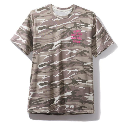 AntiSocialSocialClub GHOST CAMO TEE -BROWN CAMO