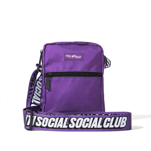 AntiSocialSocialClub PURPLE SIDE BAG -PURPLE