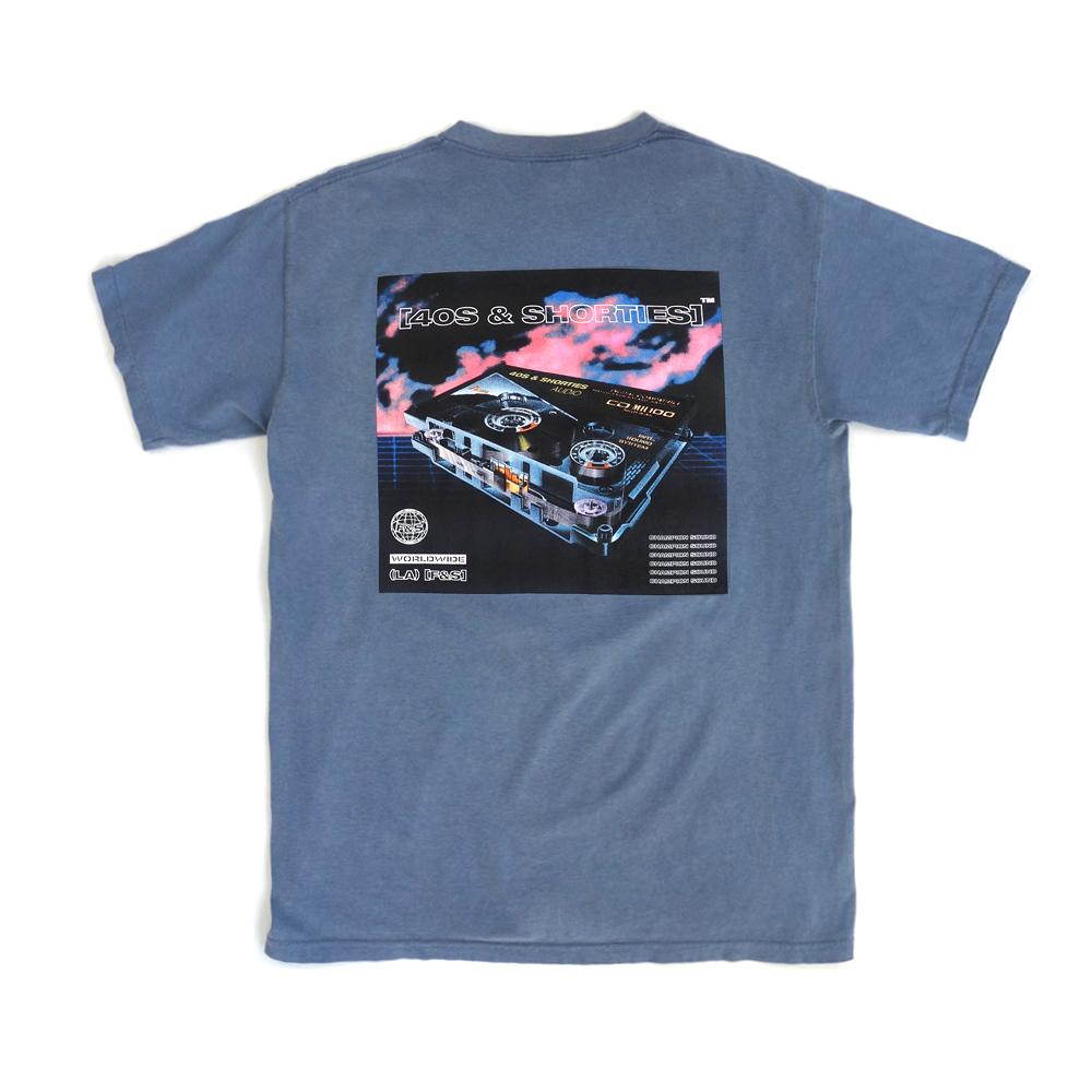 40'S AND SHORTIES SOUNDWAVE TEE -BLUE