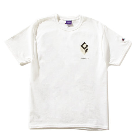 CARROTS GUCCUO WORDMARK T-SHIRT -WHITE