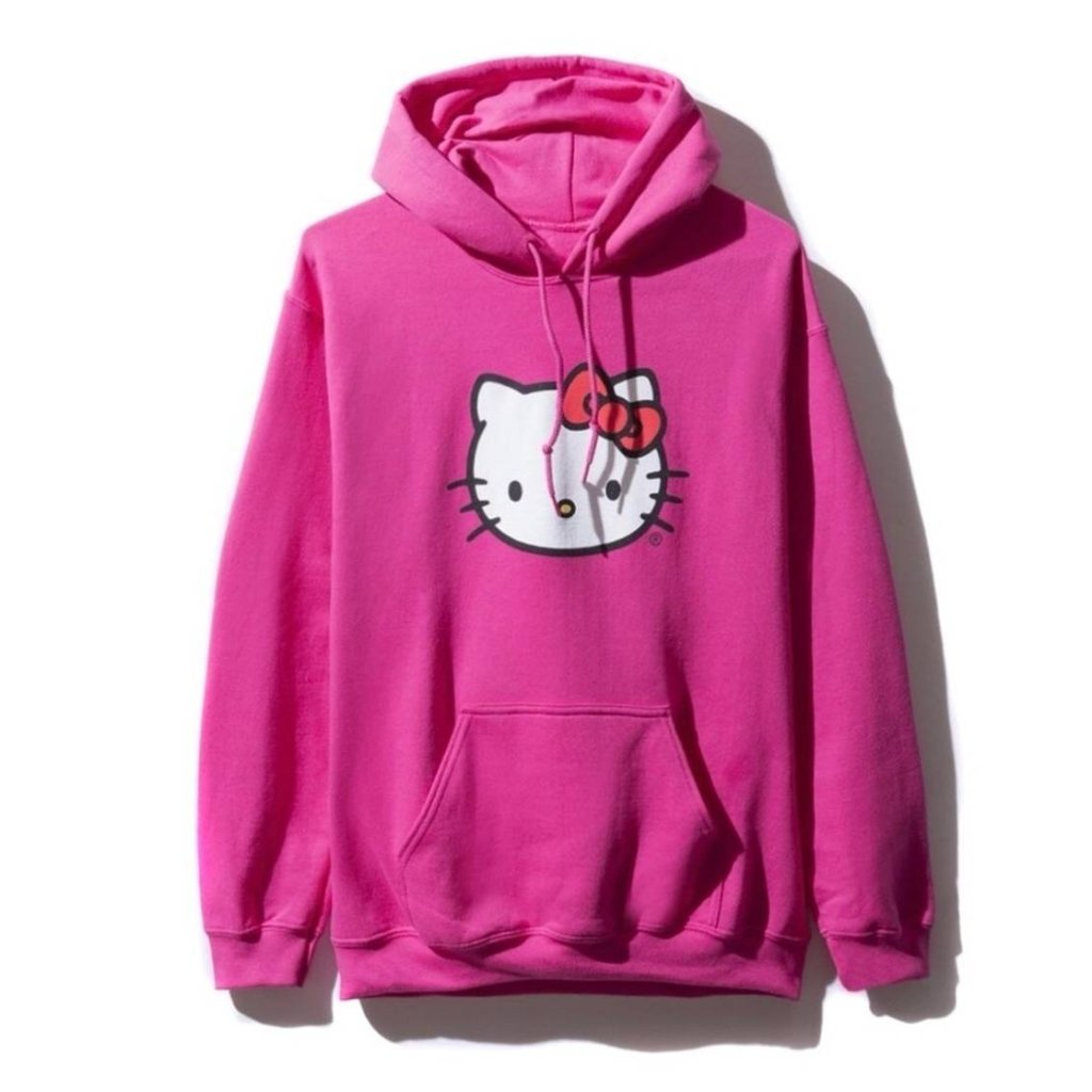 AntiSocialSocialClub HELLO KITTY HOODIE -PINK
