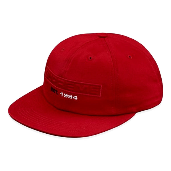 SUPREME EMBOSSED LOGO 6-PANEL -RED