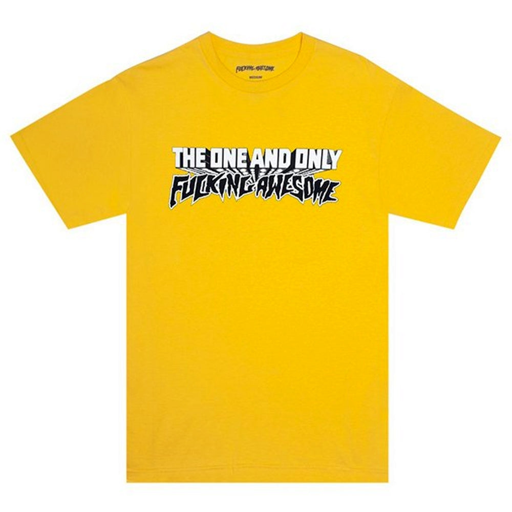 Fucking Awesome ONE & ONLY TEE -YELLOW