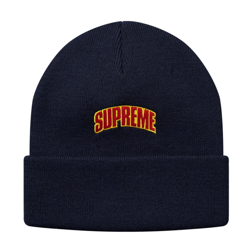 SUPREME CROWN LOGO BEANIE -NAVY