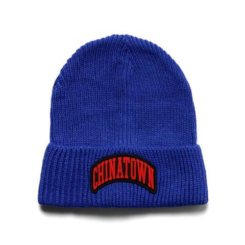 CHINA TOWN MARKET ARCH BEANIE -NAVY