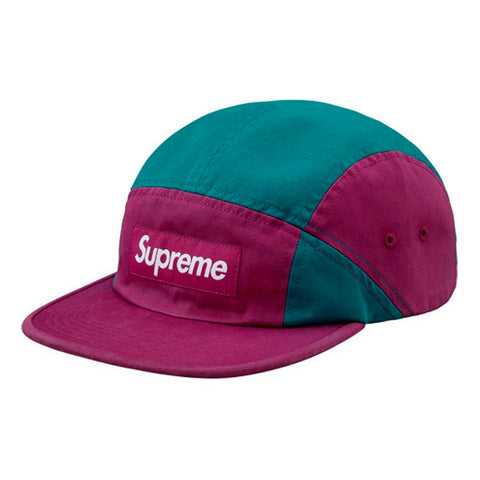 SUPREME CONTRAST PANEL CAMP CAP -MAGENTA