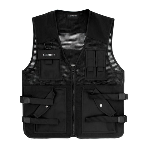 WASTED PARIS POCKET VEST -BLACK