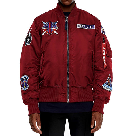 DAILY PAPER MARS MISSION ALPHA BOMBER -BURGUNDY
